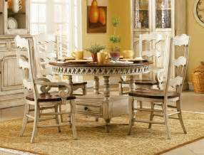 Hooker Dining Room Table summerglen 5 piece round dining table with three rung