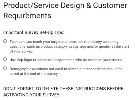 service requirements form template product service design customer requirements w3resource