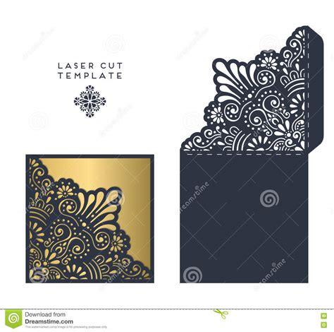 Laser Cut Template Stock Vector Image 76874258 Laser Cut L Template