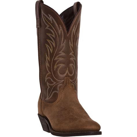 cowboy boots womans laredo womens distressed leather kadi 11in r toe