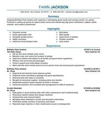 Resume Kitchen Manager by Birthday Party Host Resume Sample My Perfect Resume