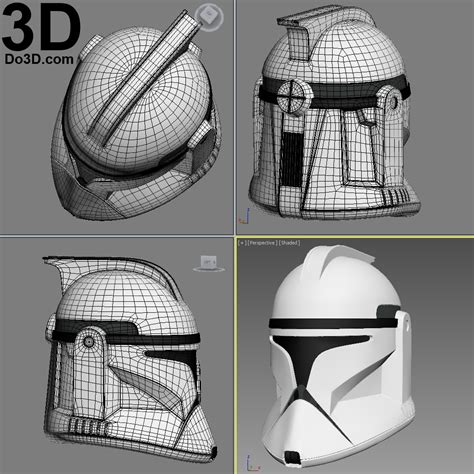 printable star wars helmet 3d printable model clone trooper phase 1 star wars