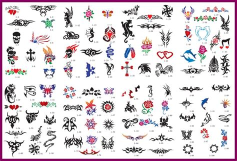 airbrush tattoo designs temporary stencil