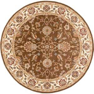 8 Foot Round Rugs Artistic Weavers Ceratonia Chocolate 8 Ft X 8 Ft Round