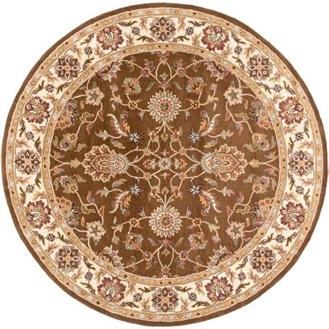 Artistic Weavers Ceratonia Chocolate 8 Ft X 8 Ft Round 8 Foot Area Rugs