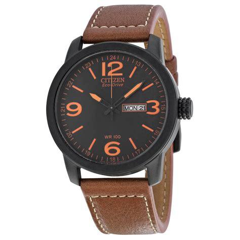 citizen eco drive brown leather mens bm8475 26e ebay