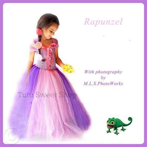Handmade Rapunzel Dress - handmade rapunzel inspired baby tutu dress costume