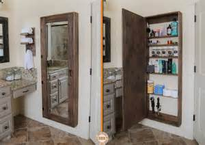 Bathroom Mirrors With Storage Diy Secret Bathroom Storage Unit