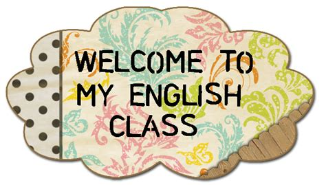 imagenes english class welcome to my english class