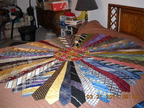 Mens Tie Quilt by Cats And Crafts Tie Quilt