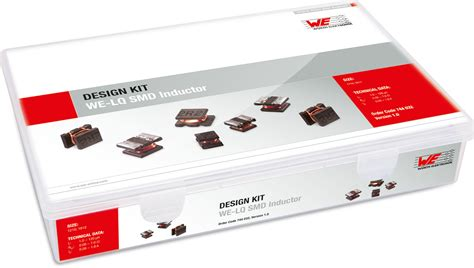 design kit smd inductors we lq design kits power magnetics wurth electronics standard parts