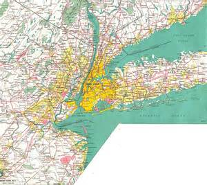 Map Of New York Highways by Large Detailed Road Map Of New York City And Its Environs
