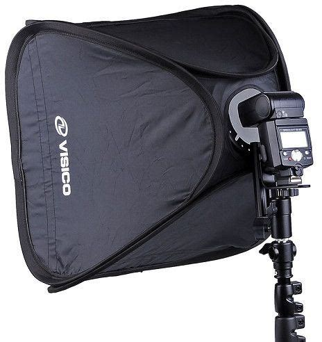 Softbox Visico visico easy softbox with flash holder 60x60cm osfoura photography equipment dubai uae