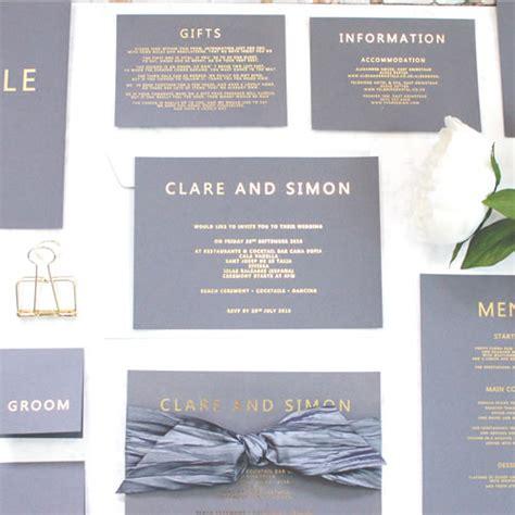 foil print wedding invitations uk luxury wedding invitations