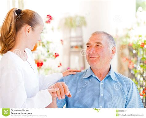 elderly home care royalty free stock photography image