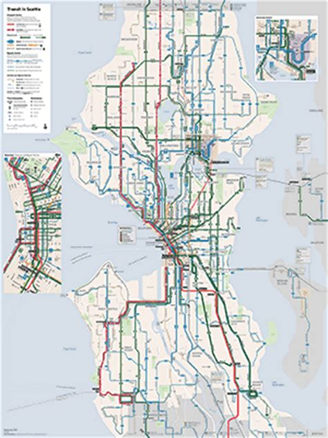 seattle map transportation the seattle transit map and guide