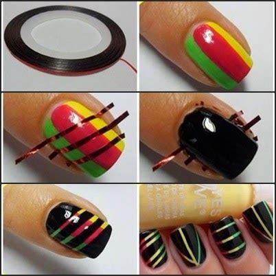 Nail Salon Ekspress Menghias Kuku Dengan Cepat Dan Murah my nails kuku cantik dengan kuteks selotip part 1