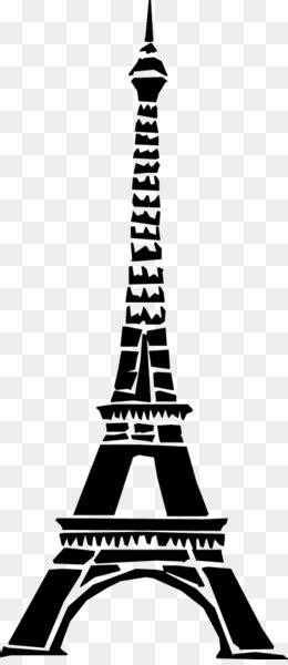 Torre Eiffel, Horizonte, Silhueta png transparente grátis