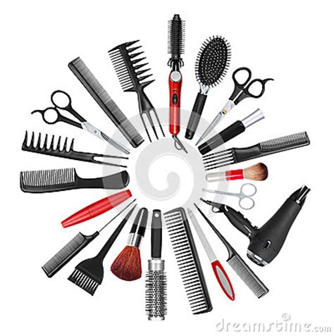 Twist Hairstyle Tools Clipart No Background by A Collection Of Tools For Professional Hair Stylist And