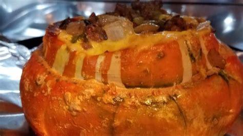 sausage stuffed turban squash recipe allrecipescom