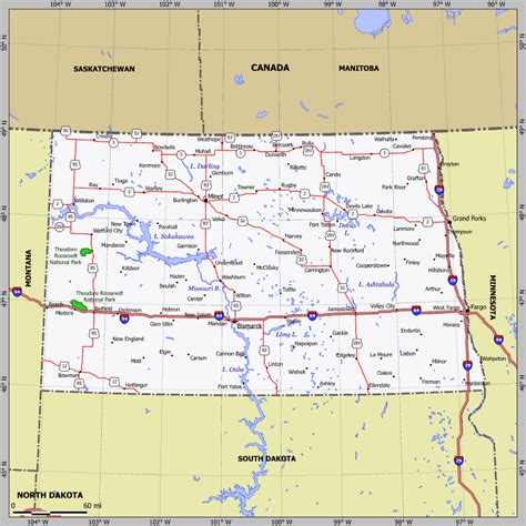 nd map dakota cgrounds and rv parks