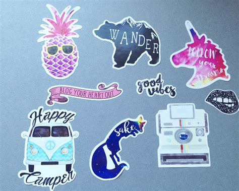 printable stickers for laptop hipster sticker vinyl stickers sticker pack cute stickers cool