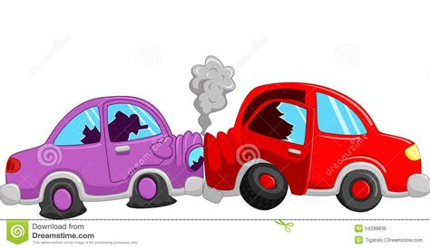 cartoon car crash cartoon car accident stock vector illustration of auto