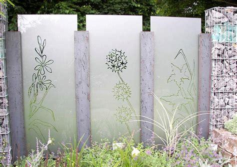 terrassen sichtschutz glas sichtschutz aus glas idee und beispiel