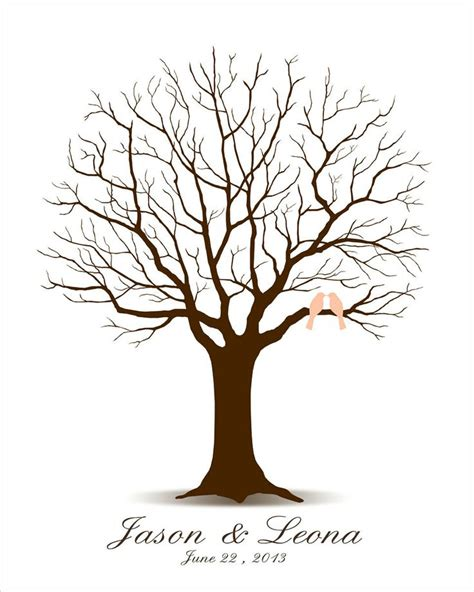 Wedding Tree by Wedding Tree Guest Book Guestbook Alternative Family