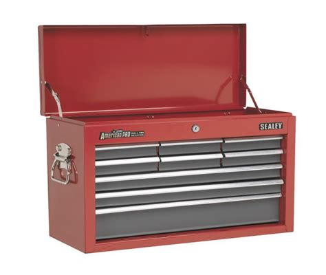 9 drawer tool chest with ball bearing slides sealey tool storage box top chest 9 drawer ball bearing