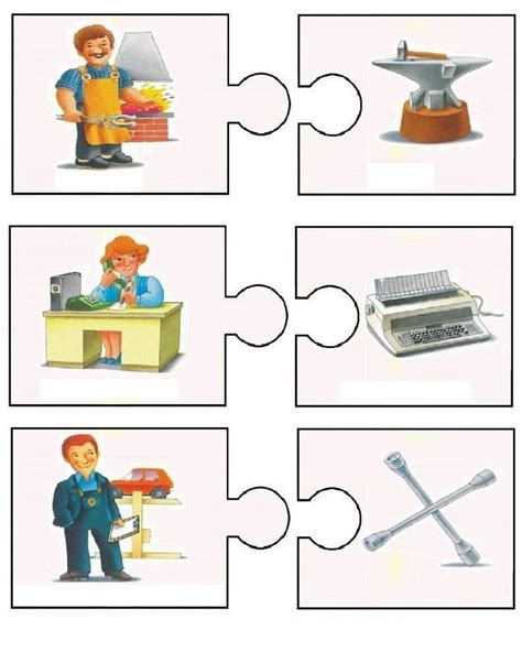 puzzle berufe pinterest community helpers