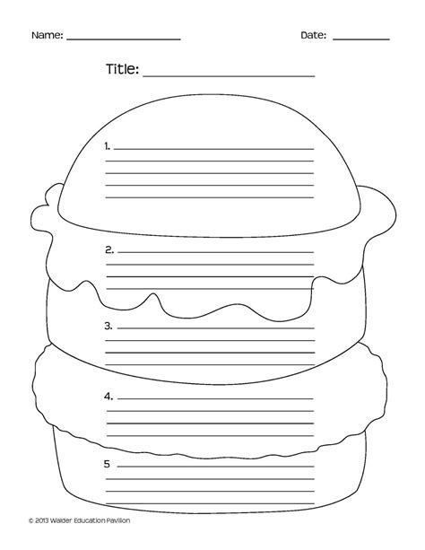 Hamburger Template Printable hamburger essay search results calendar 2015