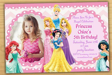 Disney Birthday Invitation Cards Birthday Invitation Card Disney Princess Birthday