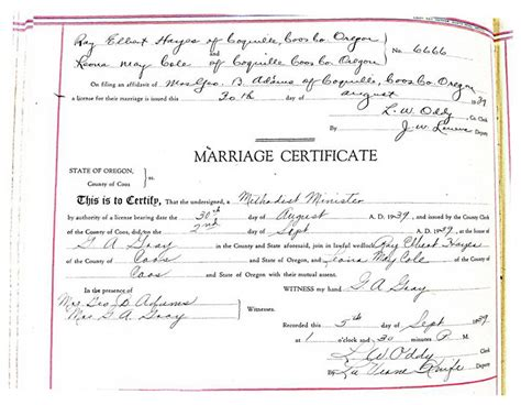 Coos County Divorce Records Hainings And Related Families