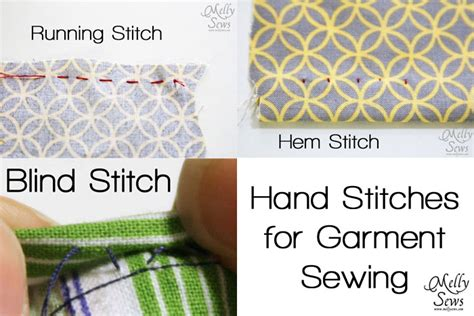 How To Do A Blind Stitch On A Sewing Machine Hand Sewing Stitches For Sewing Clothes Melly Sews