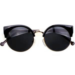 Vintage Sunglasses Vintage Black Cat Eye Wire Frame Sunglasses