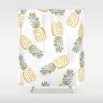 pineapple shower curtain by rui faria from society6 shower