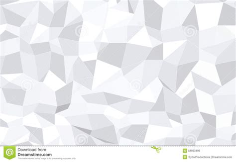White Low Poly abstract monochrome low poly pattern background stock