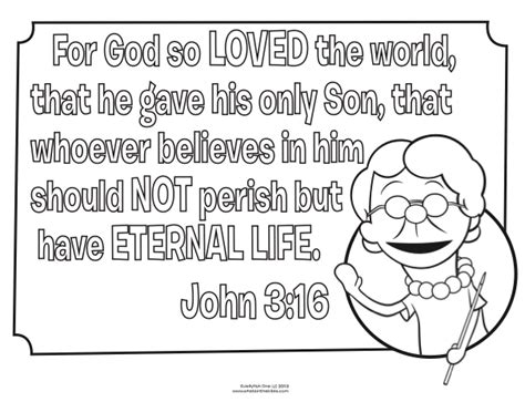 Coloring Page 3 16 by 3 16 Bible Coloring Pages What S In The Bible