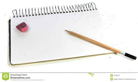 sketch book with pencil pencil sketchbook royalty free stock photo image 4170615