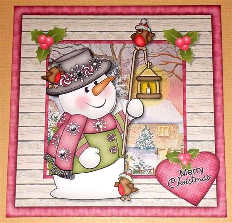 Handmade For - handmade greeting card 3d with a snowman ebay
