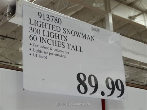 outdoor lighted snowman costco 60 inch lighted snowman