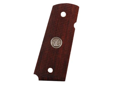 wilson combat grips 1911 officer fully checkered cocobolo