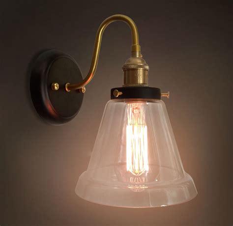 Glass Shades For Bathroom Light Fixtures Loft Industrial Style Vintage Copper Lights Art Deco Glass