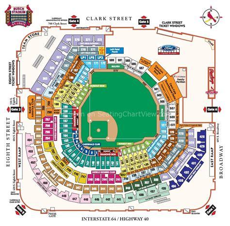 detailed seat map of busch stadium busch stadium st louis mo seating chart view