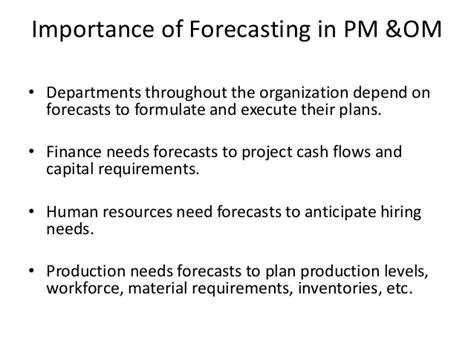 How Many Units Are Required For An Mba by Mba Ii Pmom Unit 1 3 Forecasting A
