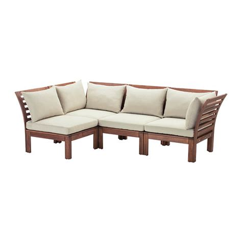 ikea outdoor sectional 196 pplar 214 h 197 ll 214 4 seat sectional outdoor brown stained