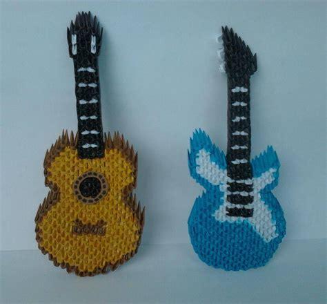 Origami Guitar - guitarra origami 3d guitarra em origami 3d nome guitarra