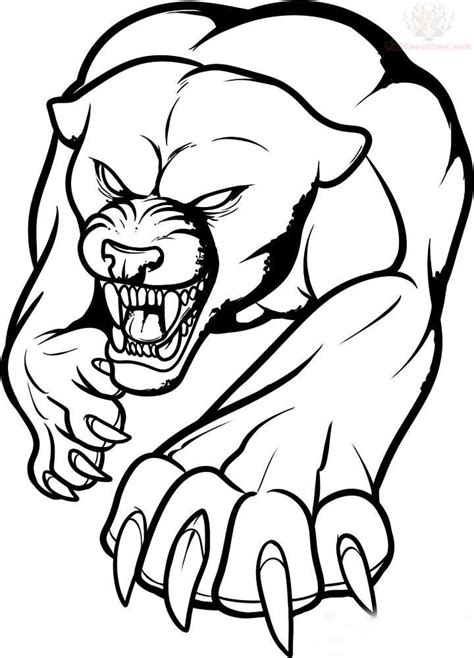 outline tribal tattoo free coloring pages of jaguar paw print