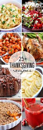 25 recipes for thanksgiving
